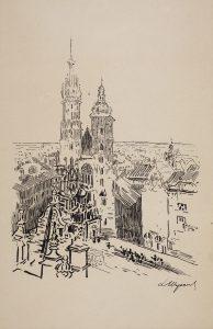 Obraz Architektura Leon Wyczolkowski widok naKościół Mariacki wKrakowie