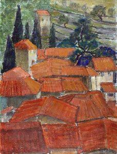 Obraz Architektura Borysowski Stanisław Czerwone dachy zpołudnia Francji