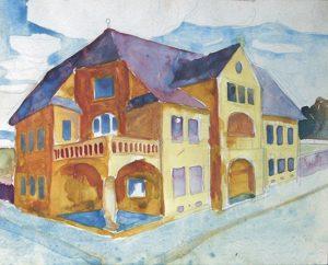 Obraz Architektura Kamocki Stanisław dom wmiescie studium perspektywy